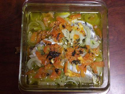 コノシロ オーブン蒸し焼き