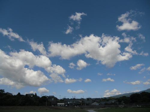青い空!白い雲!