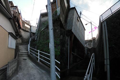 本原教会への階段です。
