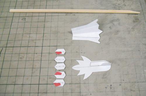機種&垂直尾翼制作1