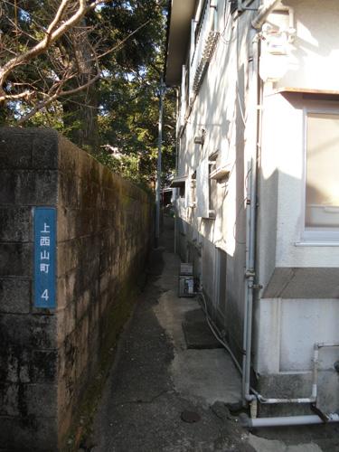 上西山の細道1
