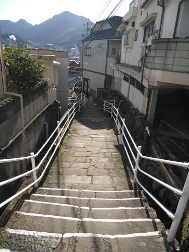石畳の細道