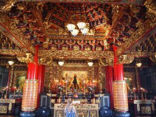 横浜中華街寺院祈り20110907
