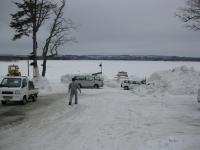 雪原の朱鞠内湖