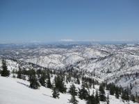 遠くに大雪山