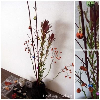 枝もの クリスマスアレンジ フラワーコーディネート