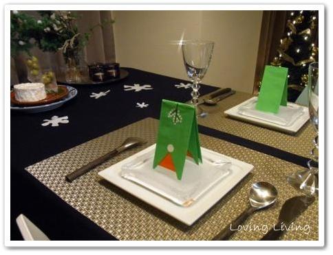 2011 クリスマス テーブルコーディネート ホワイト 初雪文様