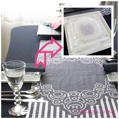 節分のテーブルコーディネート  サービスプレート SETUBUN table decoration service plate