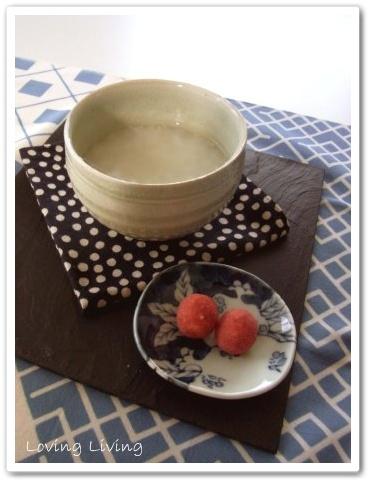 大寒(だいかん) 甘酒 テーブルコーディネート zen-style tabledecorate