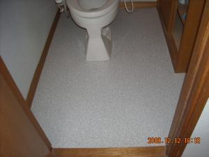 トイレ、クッションフロア(CFシート)張替後