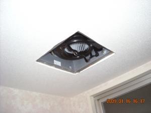 天井の壁紙張替(クロス張替)