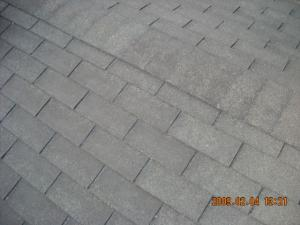 塗装前の屋根(アスファルトシングル)