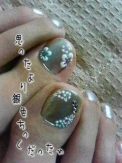マニキュア水色2