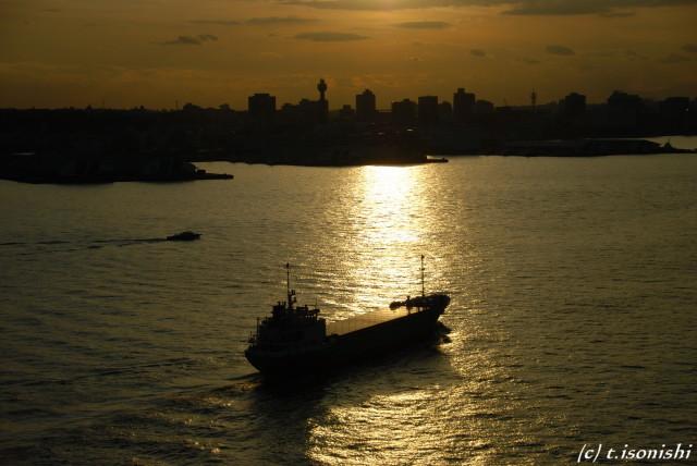 横浜港の夕景(2008/11/22)