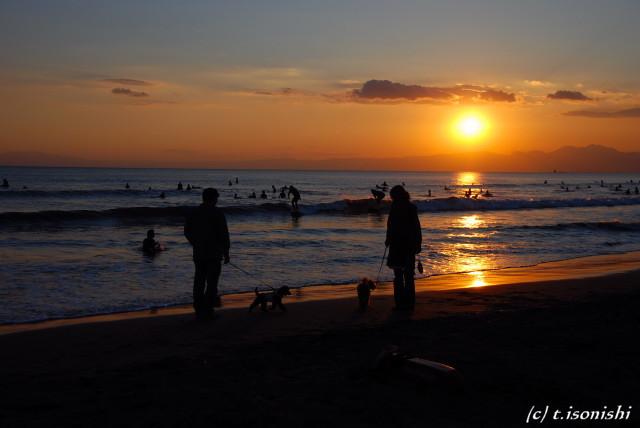 鵠沼海岸で散歩(2008/11/1)