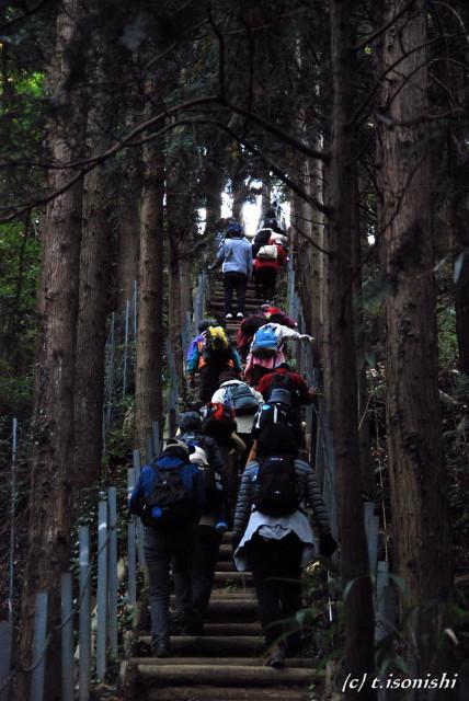白山巡礼峠から飯山温泉を訪ねて(2008/11/9)
