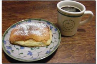 バナナカスタードパイとコーヒー