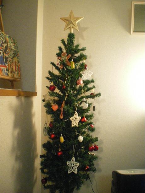 点灯前のツリー