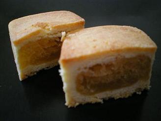 パイナップルケーキの断面です