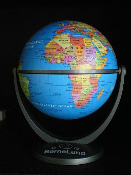 ボーネルランドの地球儀。