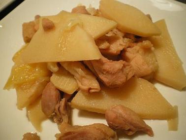 筍と鶏肉の炒め煮