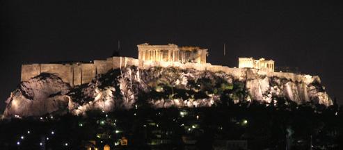 パルテノン神殿夜景