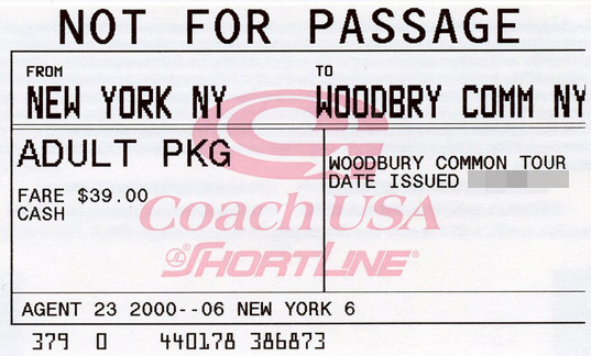 Woodbury ticket