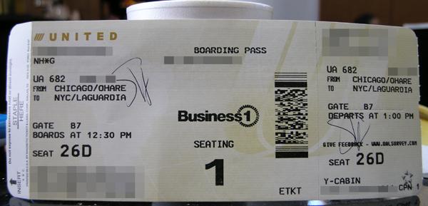 ORD-LGAチケット
