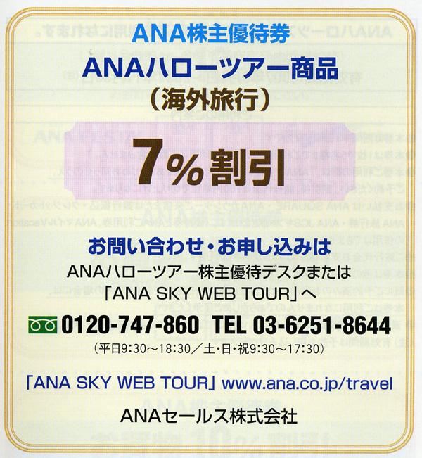 ANA株主優待ハローツアー