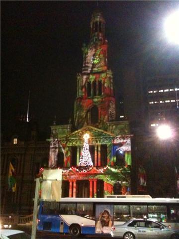 オーストラリア クリスマス タウンホール