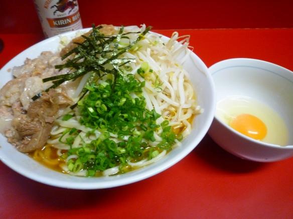 11年11月2日 西台 ラーメン 油そば 生玉子 ニンニクアブラ