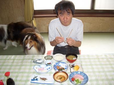 朝食もみんな一緒