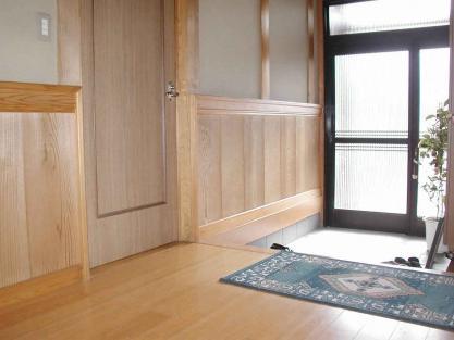 【施工事例vol.15】玄関ホールに(内部)手すりを設置前