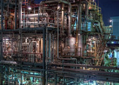 京浜工業地帯_川崎市千鳥町の夜景