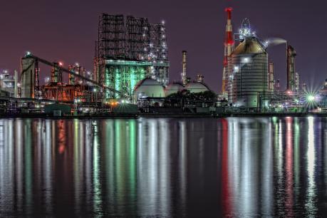 JX日鉱日石エネルギー水島製油所B工場夜景