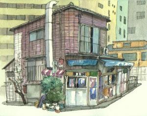並木橋の商店