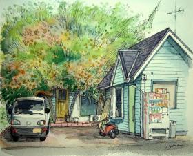 キウイフルーツの家