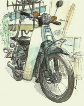 出前バイク