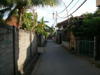 バリの町の小道