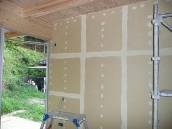 壁塗りの下地処理
