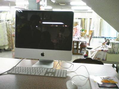 インテリア山下さんに設置したiMac
