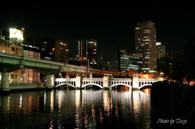 水晶橋ライトアップ