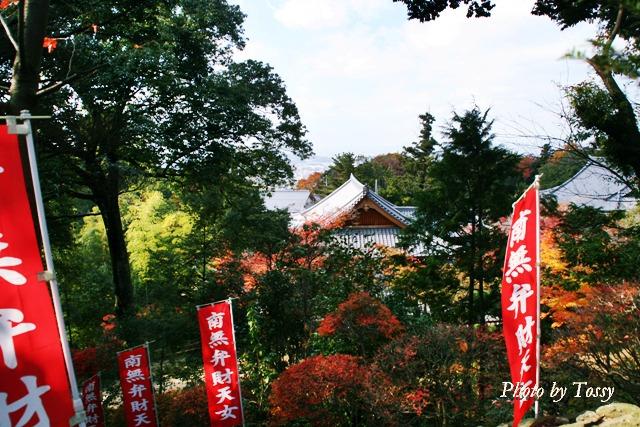 紅葉の中の堂宇