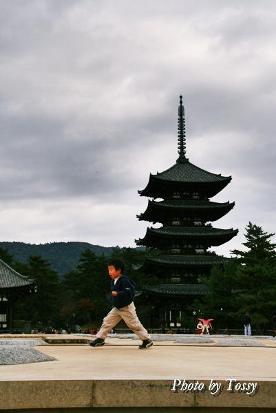 子供と五重塔