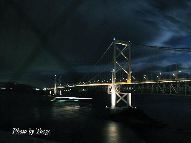 真夜中の鳴門海峡