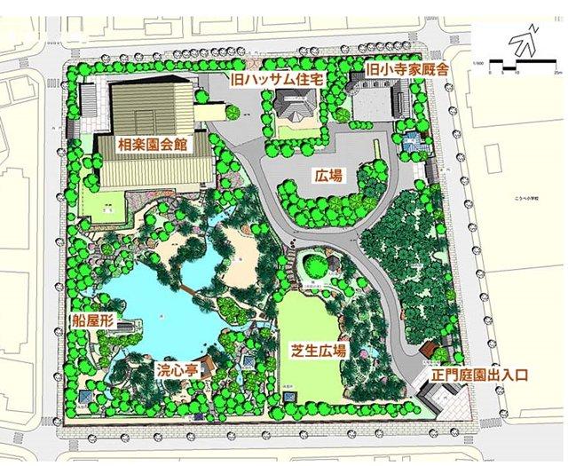 相楽園園内map