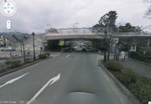 ストリートビュー跨線橋