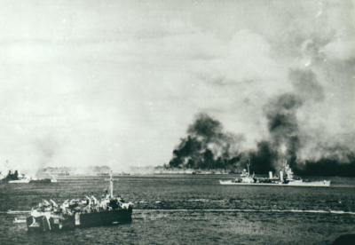 アンガウル島上陸部隊400