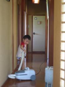 廊下も掃除