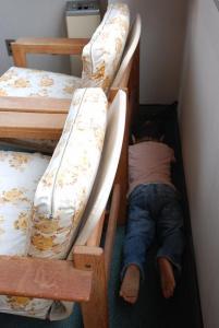 ソファーの後ろ